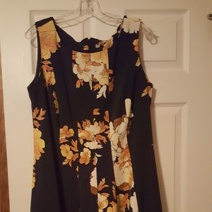 Navy blue flowered dress